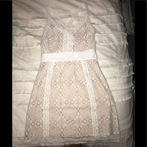 NWT Cream Lace Mini Dress!